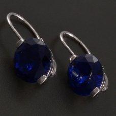 Silber-Ohrringe-blau Zirkon
