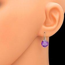 Ohrringe in Silber lila Zirkon