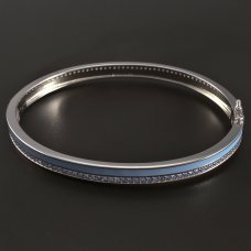 Silber-Armband-Emaille-Zirkonia