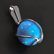 Opal-Silberanhänger