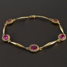 Gold-Armband-Rubin
