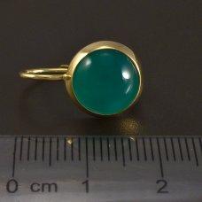 Goldene Ohrringe mit Chrysopras
