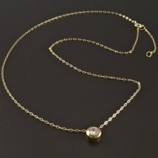 Gold-Collier-Zirkon
