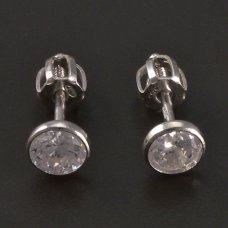 Ohrstecker-Silber-Zirkon