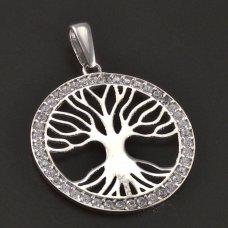 Baum des Lebens Weißgoldanhänger