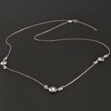 zarte Halskette Weißgold 585