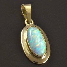 Opal-anhänger-Gold