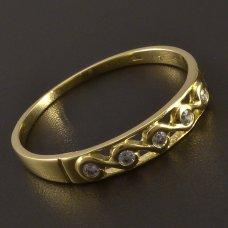 Gold-Ring-Zirkonia