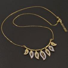Gold-Collier-Zirkon