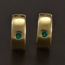 Gold-Creolen-grün Zirkon