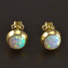 Goldene Ohrstecker mit Opal 585