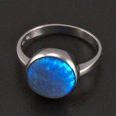 Weißgoldring-Opal