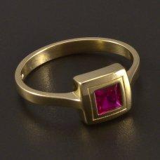 Gold 585 - Ring - Rubin