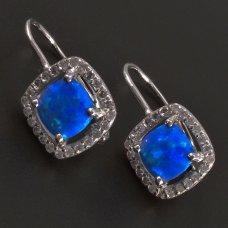 Silberohrringe mit blauem Opal