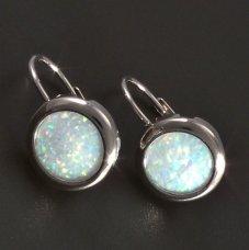 Opalohrringe-Silber
