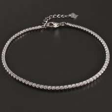 Zirkonia-Armband-Silber