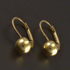 Goldene Ohrringe Kugeln
