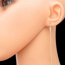 Goldene Ketten Ohrhänger 14kt