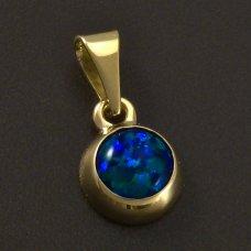Gold-Anhänger-gr¨n Opal