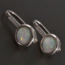 Silber-Ohrringe-Opal