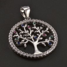 Silber-Anhänger-Baum des Lebans
