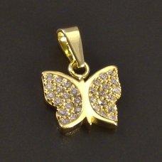 Schmetterling-Goldanhänger