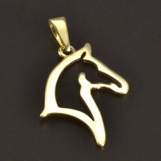 Pferd-Goldanhänger-585
