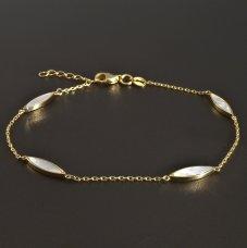 Goldarmband mit Perlmutt 585