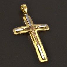 Goldener Kreuzanhänger 585
