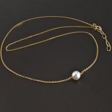 Halskette mit Perle Gold 585/1000