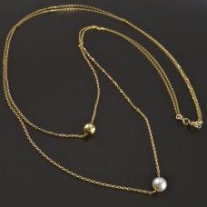 Halskette mit Kugel und Perle