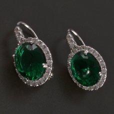 Silberohrringe mit grünem Zirkon
