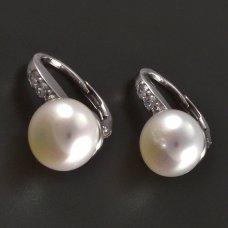 Silberohrringe-Perle