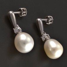 Ohrstecker-Perle-Silber