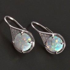 Silberohrringe-Opal