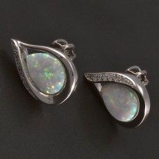 Ohrstecker-Silber-Opal
