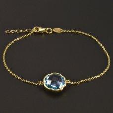 Goldarmband mit Aquamarin 585