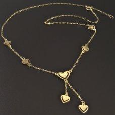 Halskette mit Herzen