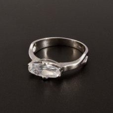Weißgold Verlobungsring Zirkonia