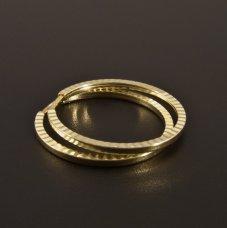 Gold Ohrringe Kreise
