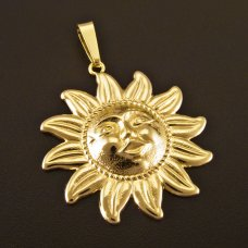 Gold Anhänger Sonne