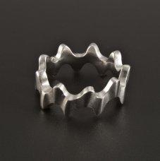 Silber Ring massiv rhodiniert