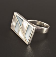 Silber Ring Perlmutt extravagant
