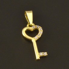 Gold Kinder-Anhänger Schlüssel