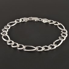 Silberarmband Figaro