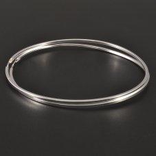Silberohrringe große Kreise