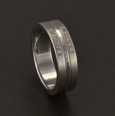 Edelstahl Ring Zirkonias