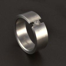 Edelstahl Ring Zirkonia