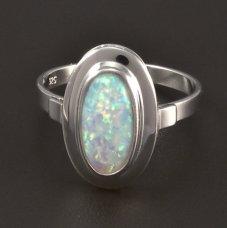 Silber Ring Opal