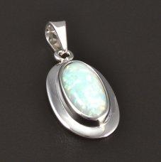 Silber Anhänger Opal